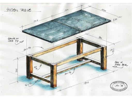 slate Garden Table