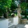 Stone steps and paving in garden is London thumbnail