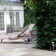 Paved garden area with deck chairs and pool thumbnail