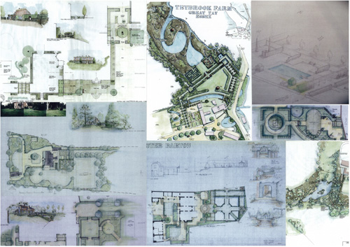 a series of plans drawn by mark lutyens