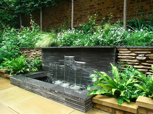 slate slot water feature london