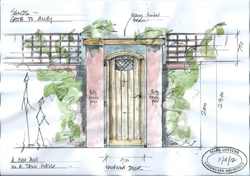 hardwood gate design country