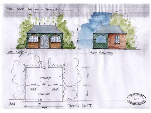 detail summerhouse sketch garden