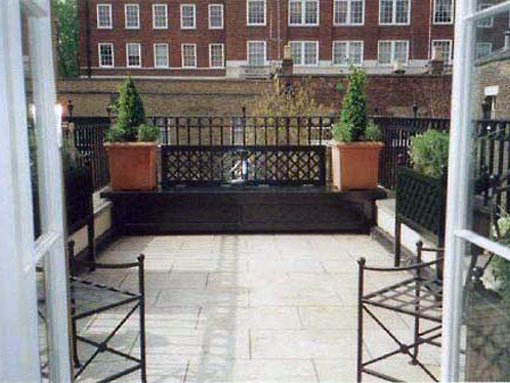 paved london roof garden