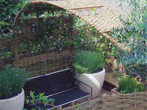organic sculptural structure for a London Roof Garden