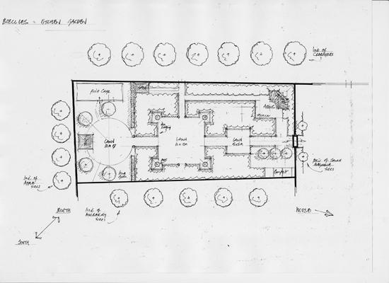 Breccles Hall kitchen garden plan