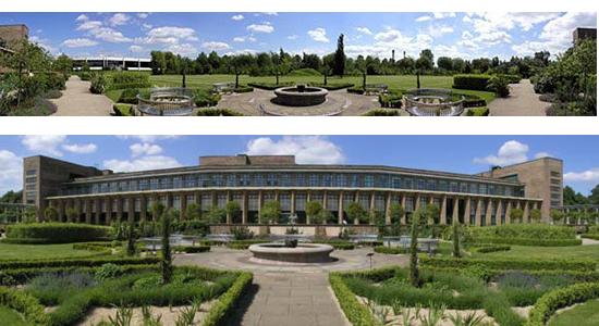Boots Millennium sculpture garden panorama