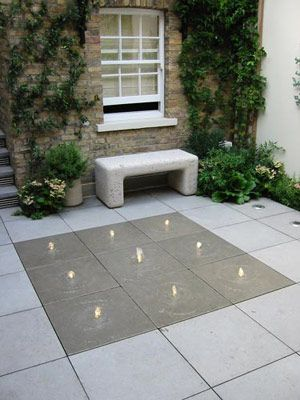Chester Terrace fountain in paving