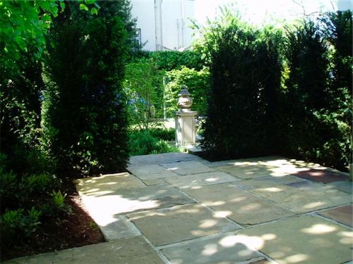 york stone paved St John's Wood garden