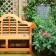 Lutyens timber bench and plaque planting design thumbnail