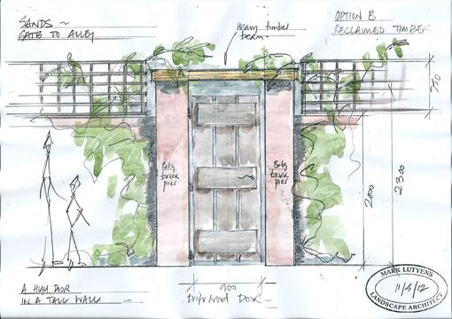 timber garden gate country