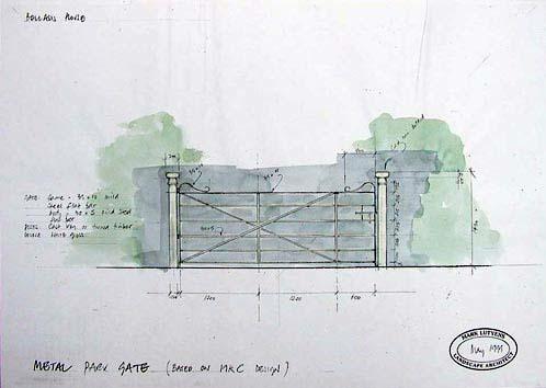 country metal gate design