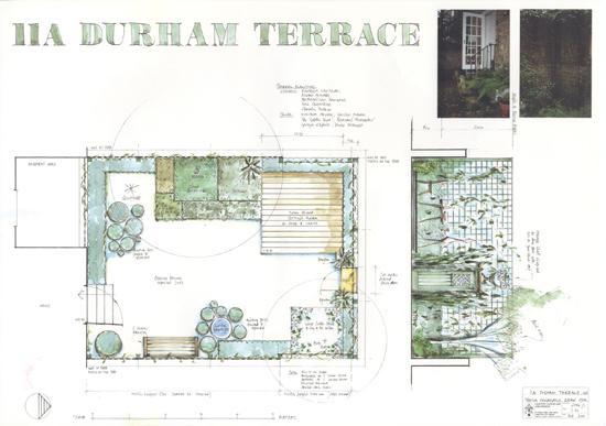 Durham terrace Notting Hill plan